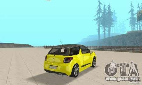 Citroen Ds3 Sport 2011 para GTA San Andreas left