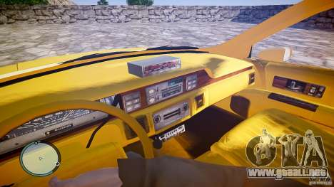 Chevrolet Caprice Taxi para GTA 4 vista hacia atrás