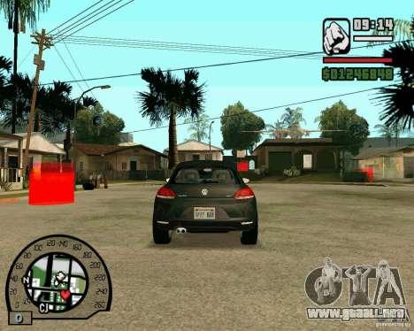 Volswagen Scirocco para GTA San Andreas vista hacia atrás
