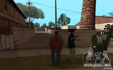 Grove Street Skin Pack para GTA San Andreas sucesivamente de pantalla