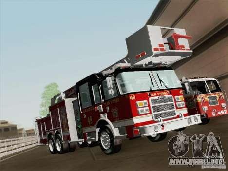 Pierce Rear Mount SFFD Ladder 49 para las ruedas de GTA San Andreas
