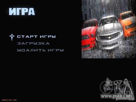 Arrancar la pantalla y menú mundo Mishin v2 para GTA San Andreas séptima pantalla