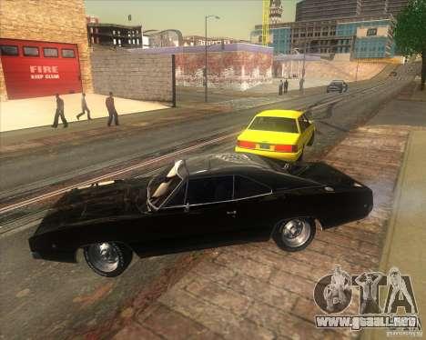 Dodge Charger RT 1968 para GTA San Andreas vista posterior izquierda