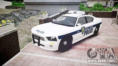 FIB Buffalo NYPD Police para GTA 4 vista hacia atrás