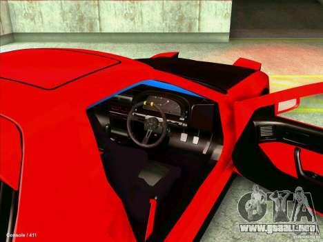 Mazda RX7 para visión interna GTA San Andreas