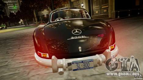 Mercedes-Benz 300 SL Gullwing para GTA 4 Vista posterior izquierda