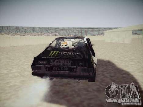 Ford Escort MK2 Gymkhana para GTA San Andreas vista hacia atrás