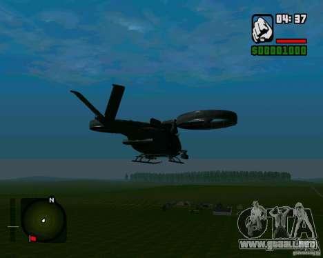 SA-2 Samson para GTA San Andreas vista posterior izquierda