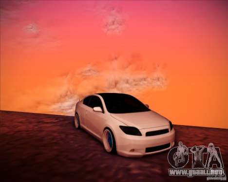 Scion tC Blue Meisters para vista lateral GTA San Andreas
