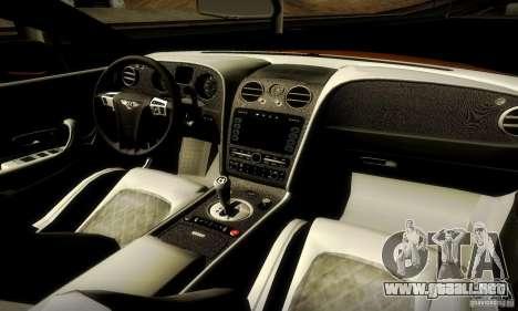 Bentley Continental Supersports para la visión correcta GTA San Andreas
