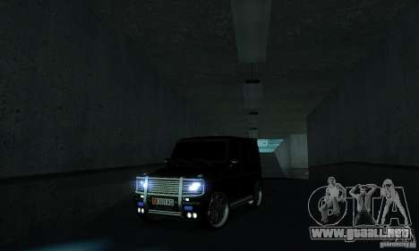 Mercedes Benz G500 ART FBI para visión interna GTA San Andreas