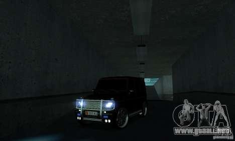 Mercedes Benz G500 ART FBI para visión interna GTA San Andreas