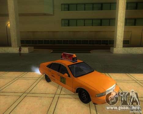 Chevrolet Caprice Taxi 1991 para la visión correcta GTA San Andreas