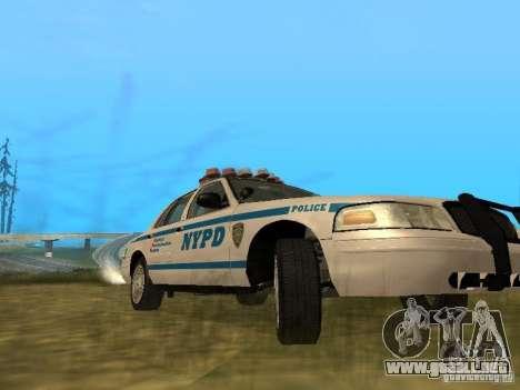 Ford Crown Victoria NYPD Police para visión interna GTA San Andreas