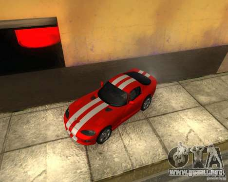 Dodge Viper GTS Coupe para GTA San Andreas vista hacia atrás