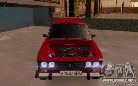 Drenaje 2106 VAZ para vista lateral GTA San Andreas