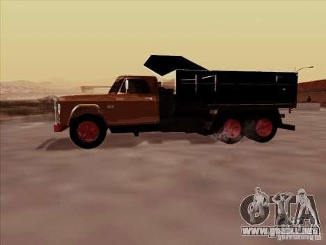 Dodge Dumper para GTA San Andreas vista hacia atrás