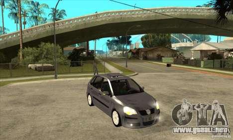 Volkswagen Polo 2008 para GTA San Andreas vista hacia atrás
