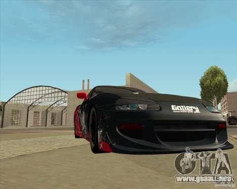 Toyota Supra by Cyborg ProductionS para vista lateral GTA San Andreas