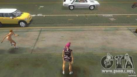 Girl Player mit 11skins para GTA Vice City segunda pantalla