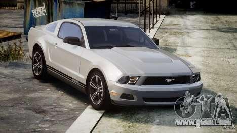 Ford Mustang V6 2010 Premium v1.0 para GTA 4 vista interior