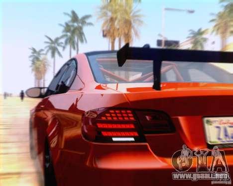 BMW M3 GT-S 2011 para GTA San Andreas vista hacia atrás