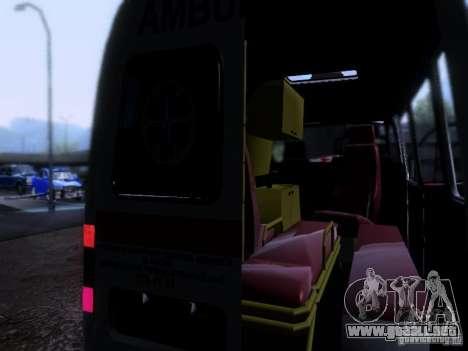 Ambulancia gacela 2705 para visión interna GTA San Andreas