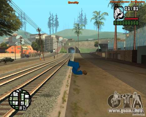 Piel Tracer para GTA San Andreas segunda pantalla