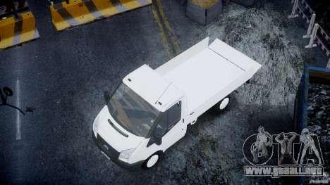 Ford Transit Pickup 2008 para GTA 4 vista desde abajo
