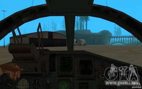 El Su-34 para GTA San Andreas vista hacia atrás