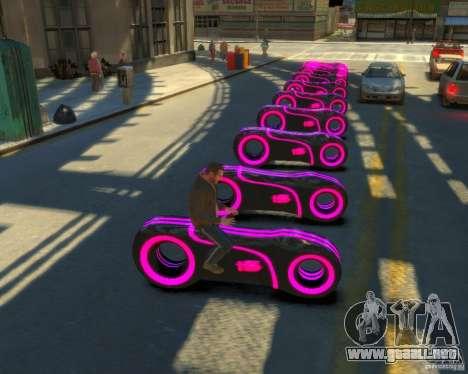 Motocicleta del trono (neón rosa) para GTA 4 Vista posterior izquierda