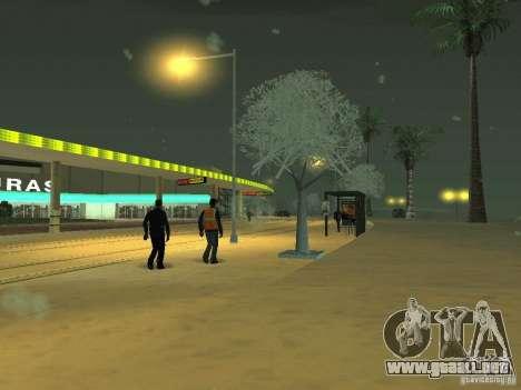 Nieve v 2.0 para GTA San Andreas quinta pantalla