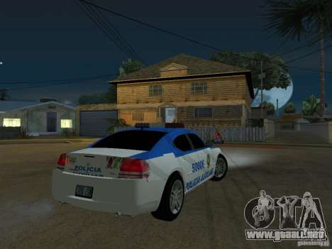 Dodge Charger Police para la visión correcta GTA San Andreas