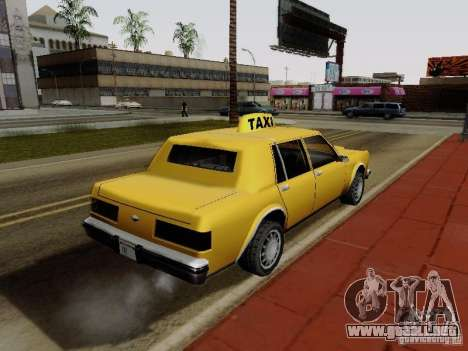 Greenwood Taxi para GTA San Andreas left
