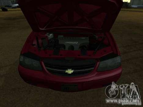 Chevrolet Impala 2003 para GTA San Andreas vista posterior izquierda