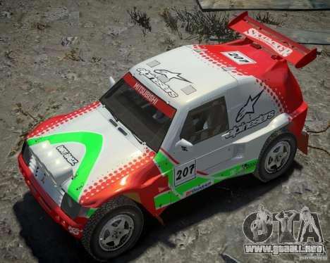 Mitsubishi Pajero Proto Dakar EK86 vinilo 2 para GTA 4 vista desde abajo