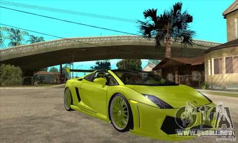 Lamborghini Gallardo LP560-4 Hamann para visión interna GTA San Andreas