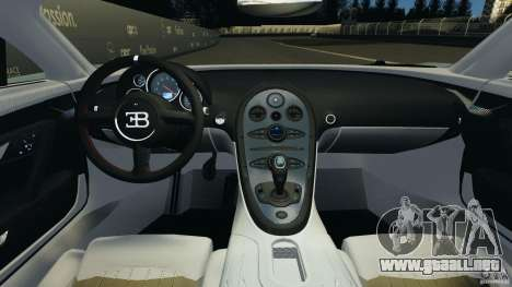 Bugatti Veyron 16.4 Super Sport 2011 v1.0 [EPM] para GTA 4 vista hacia atrás