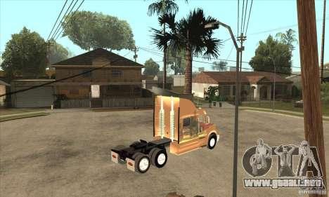Peterbilt 387 piel 3 para GTA San Andreas vista hacia atrás