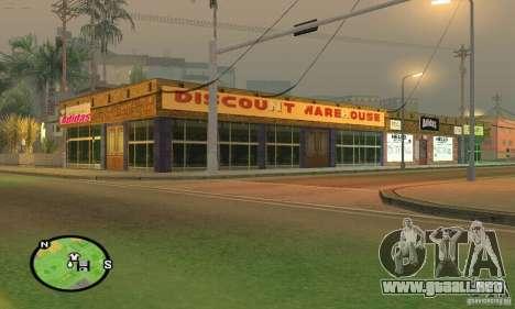 Tienda de ADIDAS para GTA San Andreas tercera pantalla