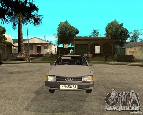 Audi 100 para GTA San Andreas vista hacia atrás