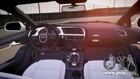 Audi S5 Hungarian Police Car white body para GTA 4 vista superior