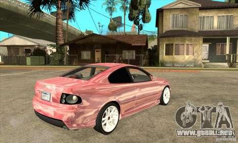 Holden Monaro CV8-R para la visión correcta GTA San Andreas