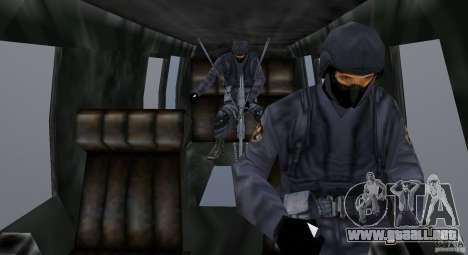 VCPD Chopper para GTA Vice City vista interior