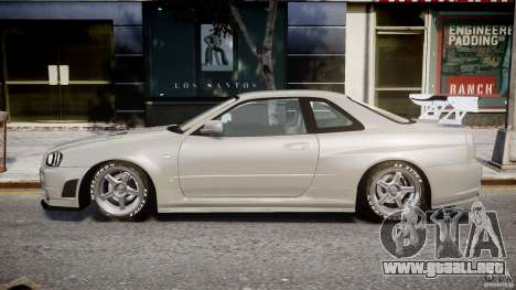 Nissan Skyline R34 Nismo para GTA 4 left