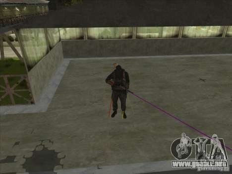 Weapon with laser para GTA San Andreas tercera pantalla
