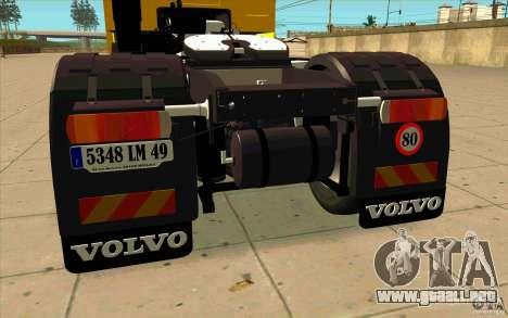 Volvo FH16 Globetrotter DHL para la visión correcta GTA San Andreas