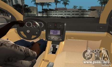 Volkswagen Golf 5 TDI para GTA San Andreas vista posterior izquierda