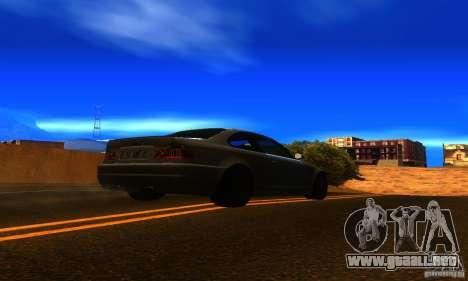 BMW M3 E46 TUNEABLE para GTA San Andreas vista posterior izquierda