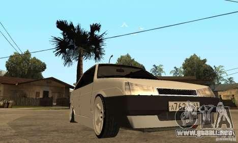 Lada 21099 Light Tuning para GTA San Andreas vista hacia atrás